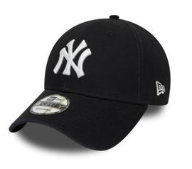 GORRA NEWERA NEGRA, NEW YORK CON PARCHES ROJOS
