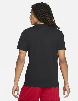 CAMISETA NIKE MANGA CORTA PHOTO MEN'S BASKET NEGRA