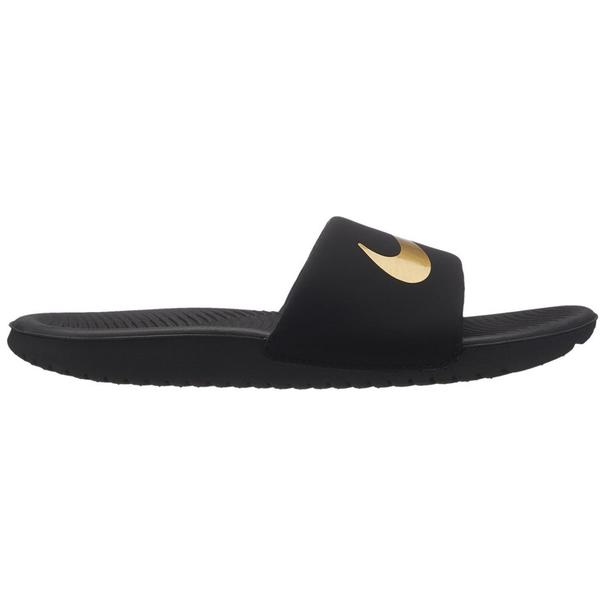 CHANCLA NIKE KAWA SLIDE JUNIOR NEGRO/ORO