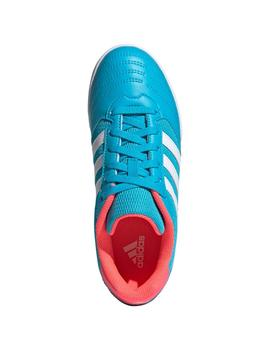 ADIDAS SUPER SALA JUNIOR, TURQUESA